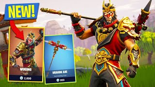 FORTNITE BATTLE ROYALE // NOUVEAU WUKONG SKIN - DRAGON AXE PICKAX!!!!!