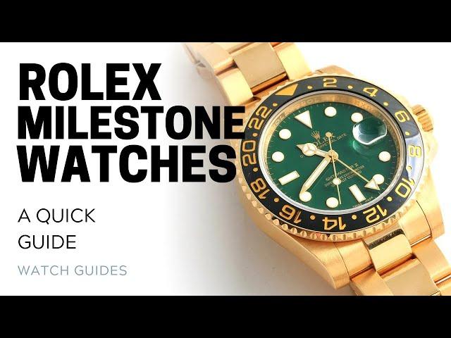 Rolex Milestone Watches: Special Anniversary Watches from Rolex | SwissWatchExpo [Rolex Watches]