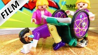 Playmobil Film deutsch   BECKY AUS ROLLSTUHL GESCHUBST - Mobbing wegen Eifersucht? Familie Vogel