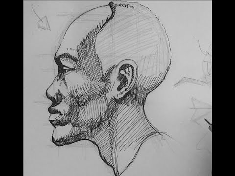 Pen ink drawing tutorials how to draw the head in profile view pen ink drawing tutorials how to draw the head in profile view youtube ccuart Image collections