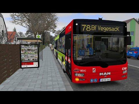 Omsi 2 Addon Bremen-Nord - Route 78 Borchsholt - BF Vegesack (PC) |