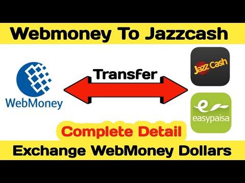 Webmoney To Jazzcash || Webmoney To Easypaisa || Usd To Pkr || Currency Exchange || Money Transfer