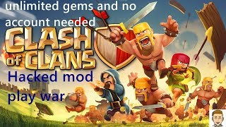 Play COC unlimited resouces mod and play war without any account