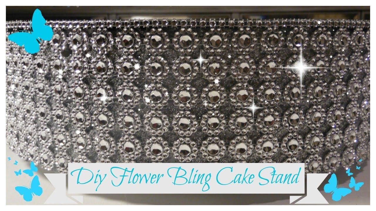 Diy Flower Bling Rotating Cake Stand Dessert Display Stand Wedding Series Pt 5