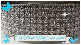DIY  FLOWER BLING ROTATING CAKE STAND 💍 DESSERT - DISPLAY STAND (WEDDING SERIES PT 5)