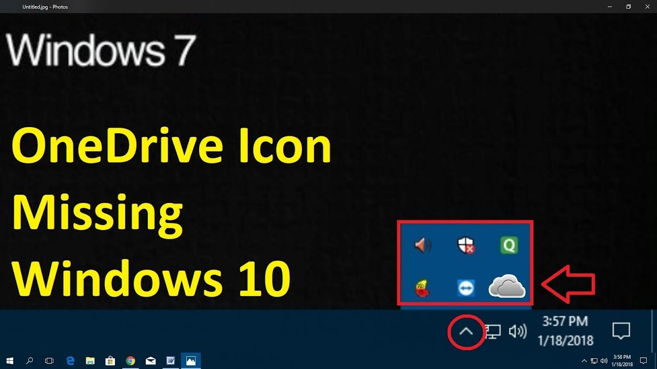How to fix OneDrive Icon Missing in Windows 10 | Hindi 2018