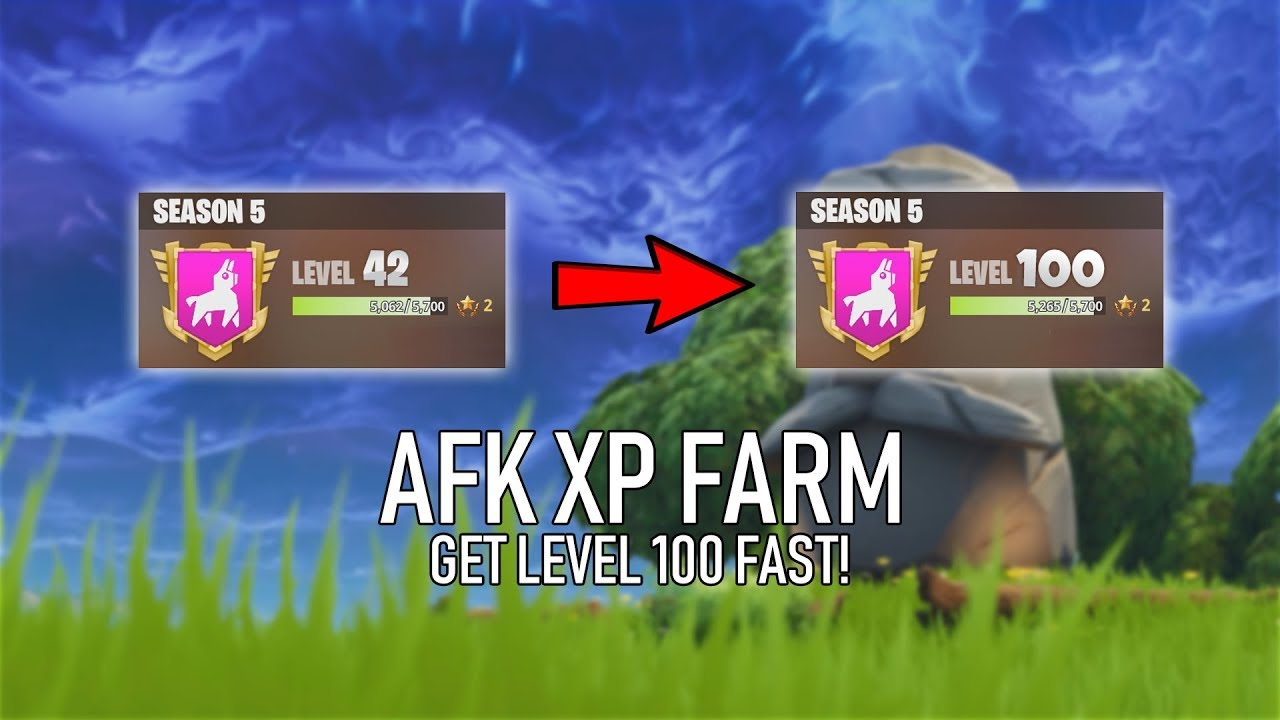🔥 AFK XP FARM - GET LEVEL 100 FAST! | SEASON 8 ✅ (Fortnite)