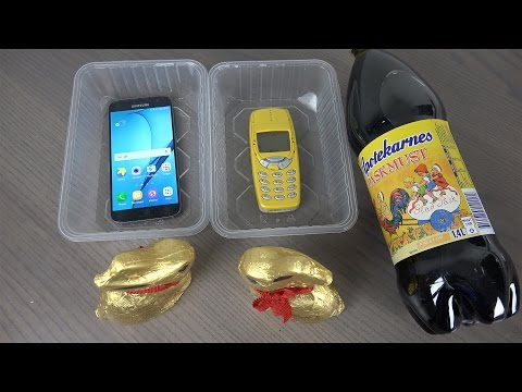 Thumbnail: Samsung Galaxy S7 vs. Nokia 3310 Easter Soda with Chocolate Rabbits - Will It Survive?
