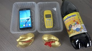 Samsung Galaxy S7 vs. Nokia 3310 Easter Soda with Chocolate Rabbits - Will It Survive?