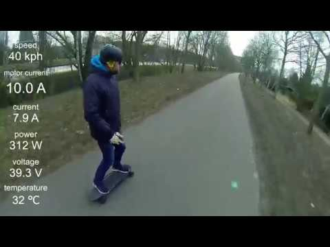 DIY Eskate Ride & Raptor 2 - Metr App Data Overlay