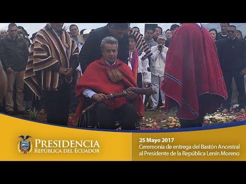 Ceremonia de entrega del Bastón Ancestral al Presidente de la República  Lenín Moreno
