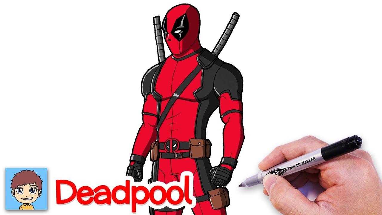 Comment Dessiner Deadpool Facilement - Dessin Facile - YouTube