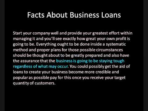 Facts About Business Loans
