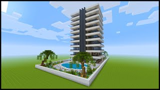 Minecraft How To Build a Modern Hotel  PART 1