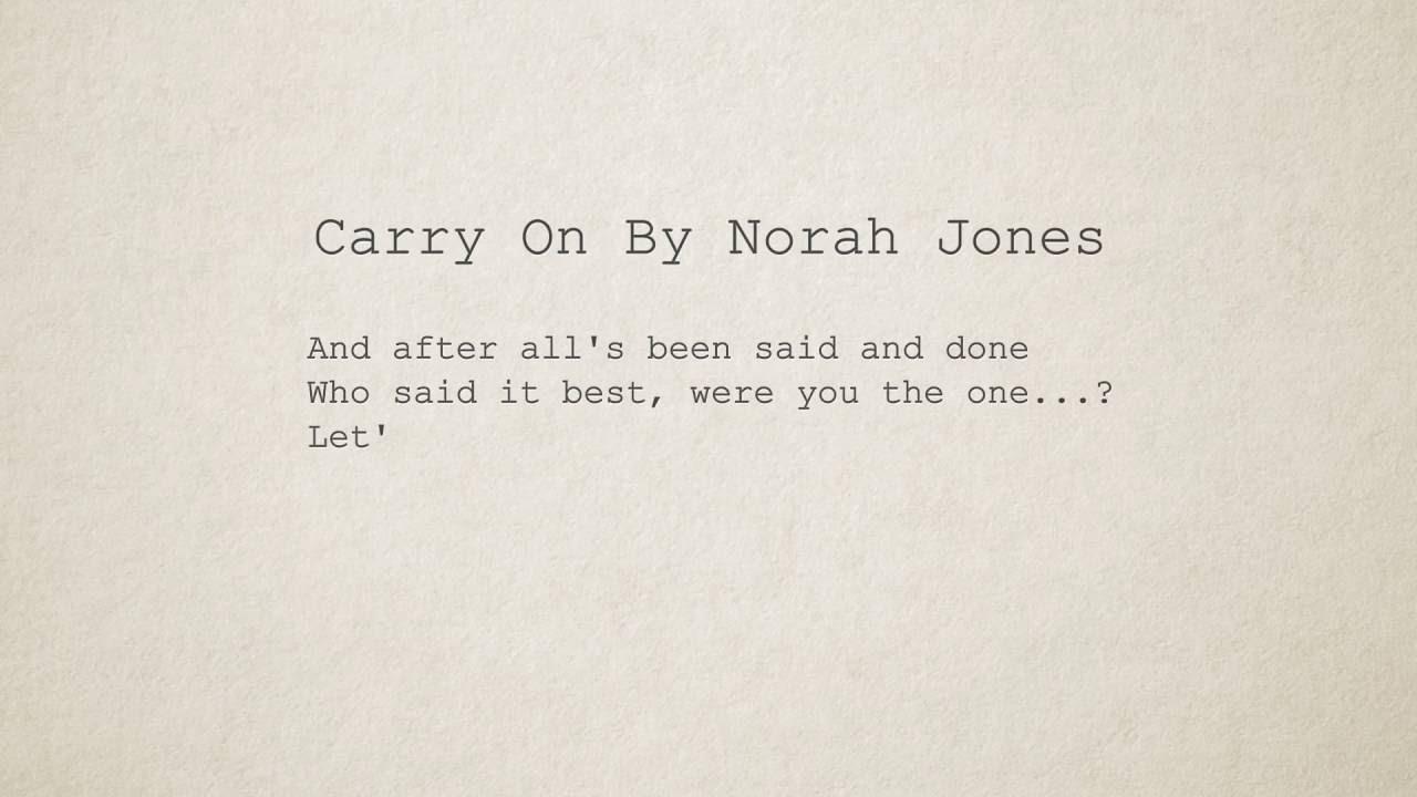 Norah Jones - At Last Lyrics | MetroLyrics