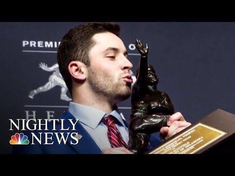 Oklahoma Quarterback First Walk-On Player To Win A Heisman Trophy | NBC Nightly News
