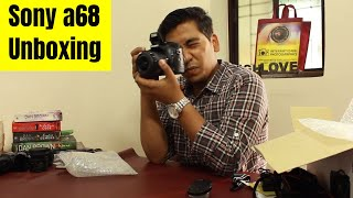 hindi -  Sony Alpha 68 Camera Unboxing in Hindi