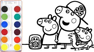 Baby Draw Peppa Pig | New Friends | Coloring Books & Art Colors fo Kids - Learn Drawing