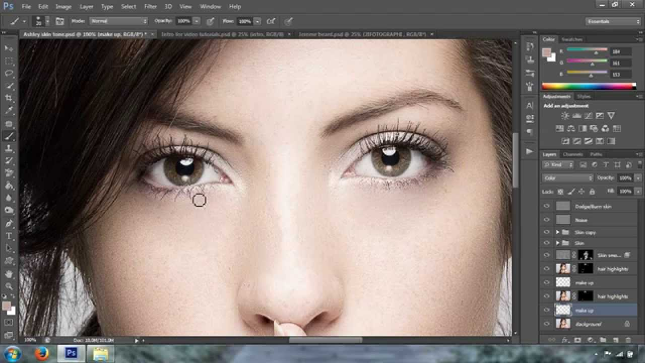 How To Add Hair Highlight In Photoshop Cc Youtube