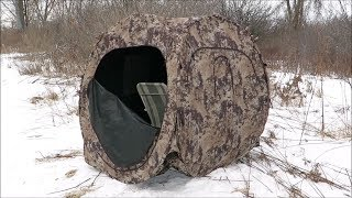 Stalking A Murder Of Crows Using Ameristep Doghouse hunting blind