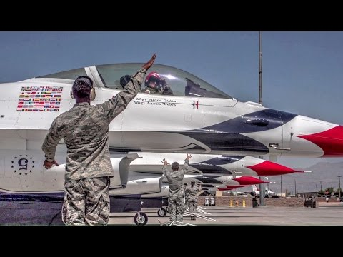 Air Force Thunderbirds Ground Crew and Pilots – Preflight Ground Routine And Takeoff