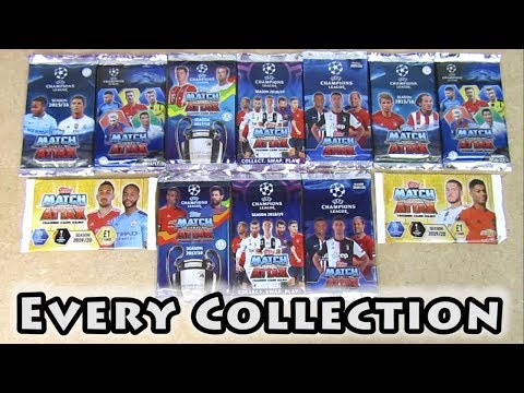Opening Every Match Attax Champions League Collection | All 5 Seasons | Match Attax 15/16 - 19/20