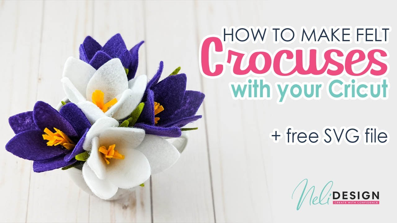 Make Felt Of Paper Crocus Flowers With Your Cricut And My Free Svg Files Dxf Also Available Youtube