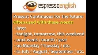Present Continuous For Future Use: English Grammar