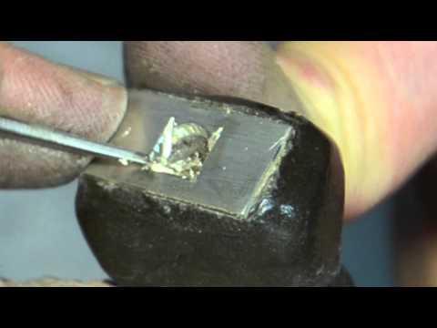 diamond setting with cut to burin