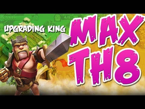 CLASH OF CLANS  ::  UPGRADING BARBARIAN KING  ::  MAXING TH8