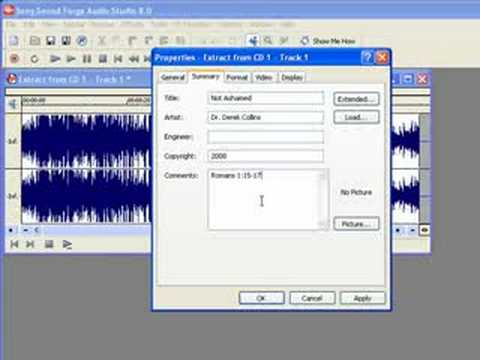 Audio CD to MP3 Sound Forge