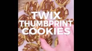 How to make Twix Thumbernit Cookies