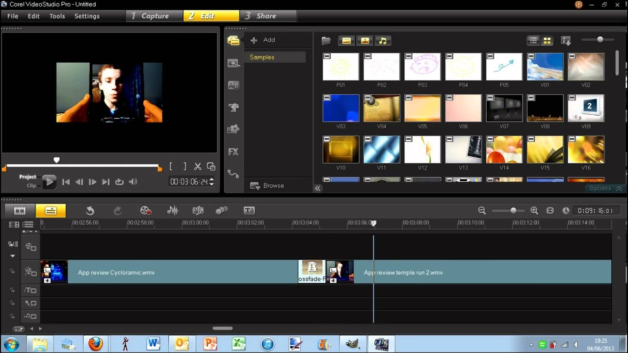 How To Edit A Video In Corel Studio X6 Youtube