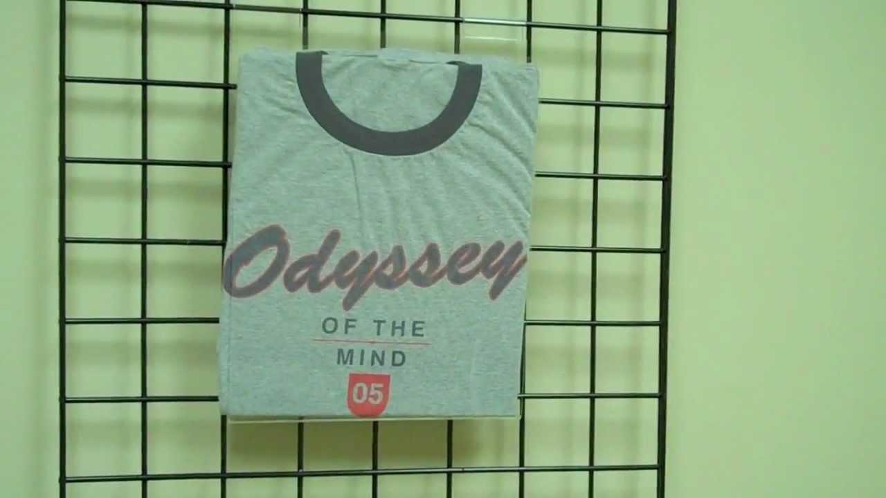 Gridwall T-Shirt Displays - Acrylic - w/ Fold Board - YouTube