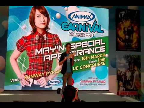 May'n Peformance and Interview in Animax Carnival Malaysia 2013 [Part I]