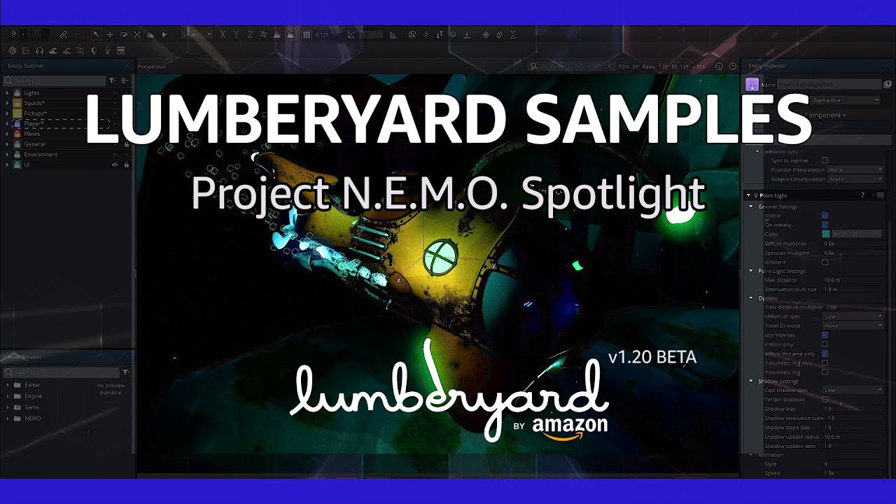 Amazon Lumberyard — Project N E M O Sample Now Available! : aws
