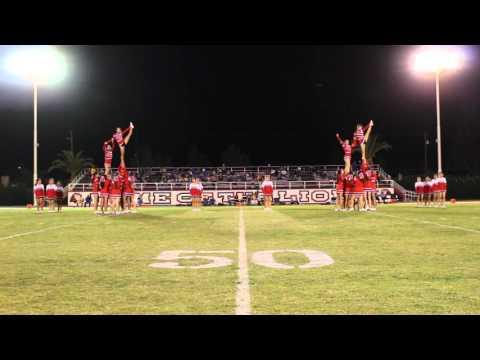 Kerman High School Song and Varsity Cheer Performance