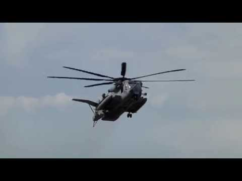 Sikorsky CH-53 Sea Stallion Helicopter approach at Boeing Field Seattle KBFI