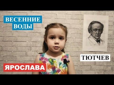 Ярослава Стих Тютчев Весенние воды