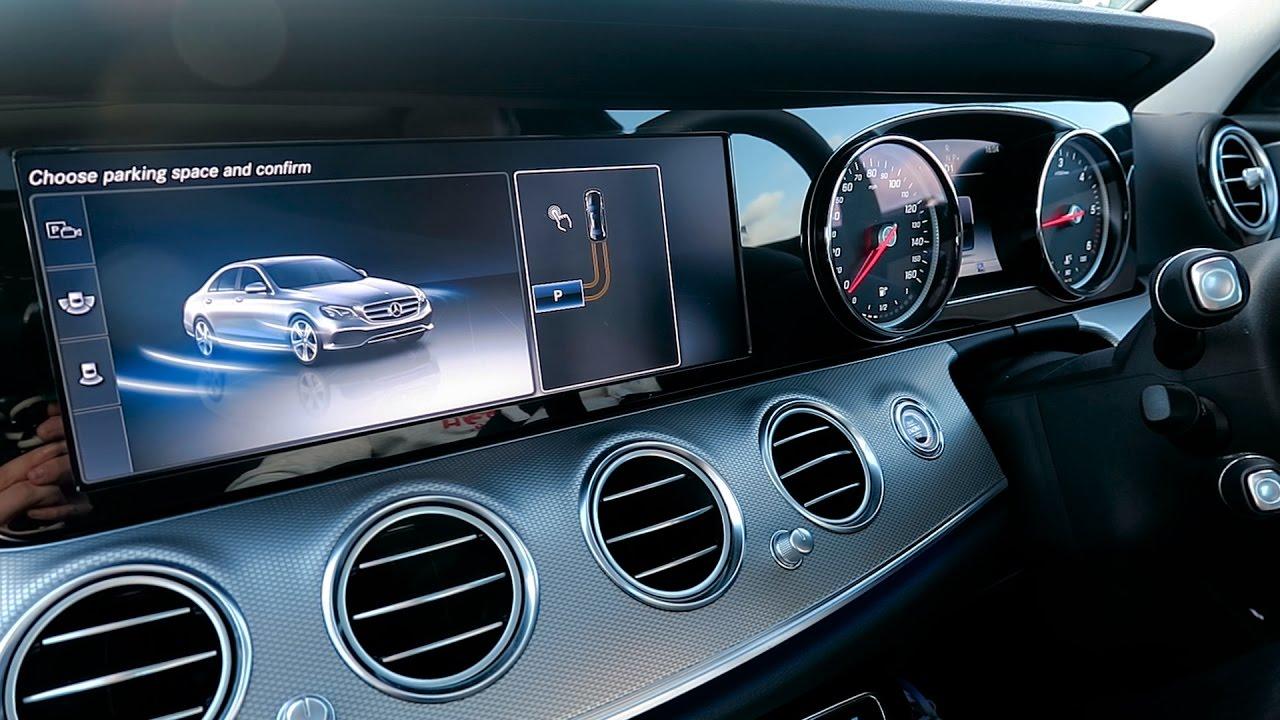 Mercedes benz parking pilot 2017 new e class youtube for Parking at mercedes benz superdome
