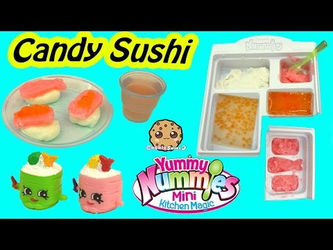 Yummy Nummies Kitchen Magic Gummy Candy Sushi Surprise Food Maker Playset - Cookieswirlc Video