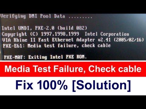 Media Test Failure, Check cable | 100% fix [Solution]