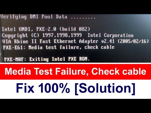 Media Test Failure, Check cable | 100% fix [Solution]