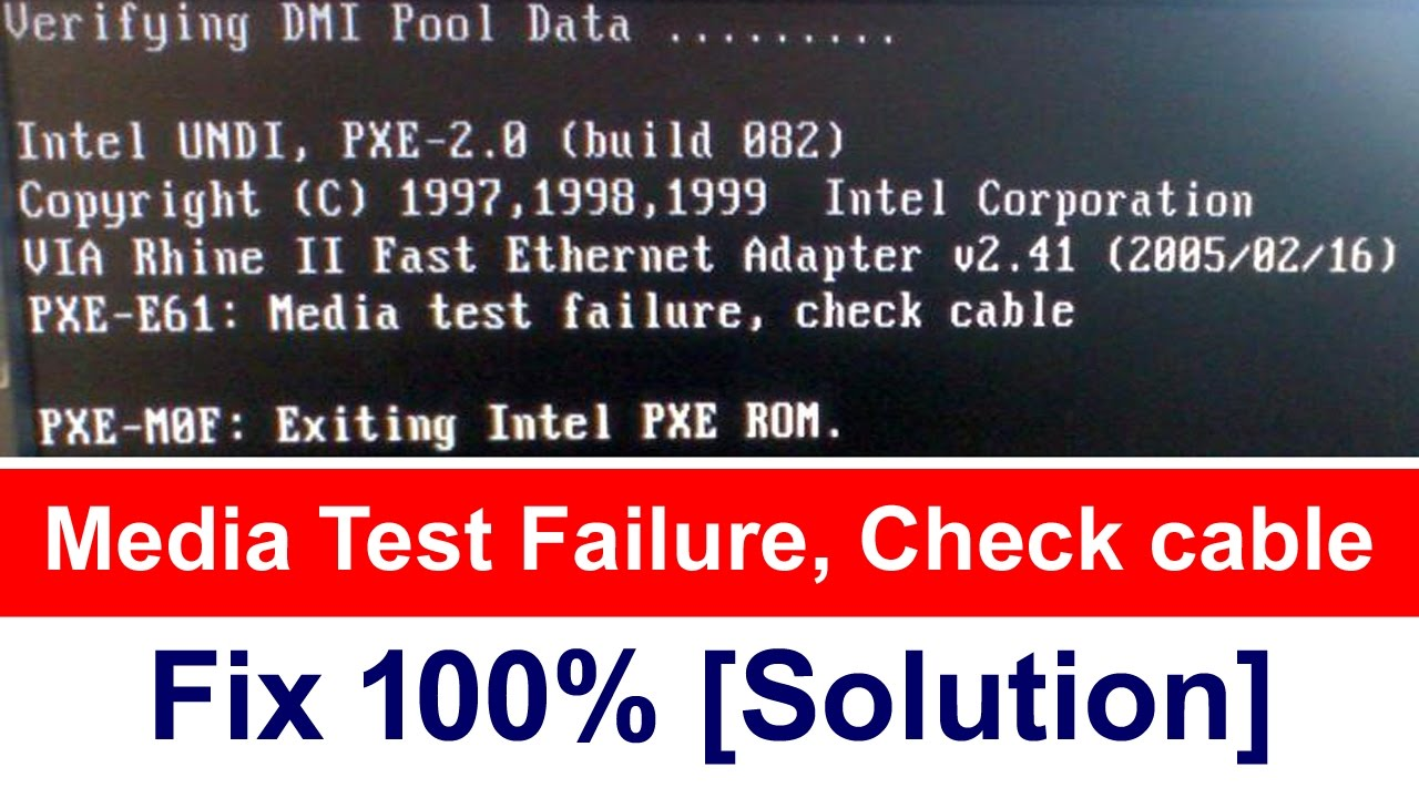Media Test Failure Check Cable 100 Fix Solution Youtube How To Build Connection Tester