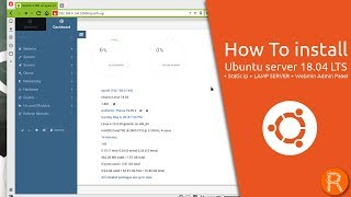 How To install Ubuntu server 18.04 LTS + Static ip + LAMP SERVER + Webmin Admin Panel
