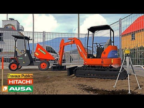 Farming Simulator 15 Les minis engins TP ✔ Ausa 150 DH ★ HITACHI EX50U