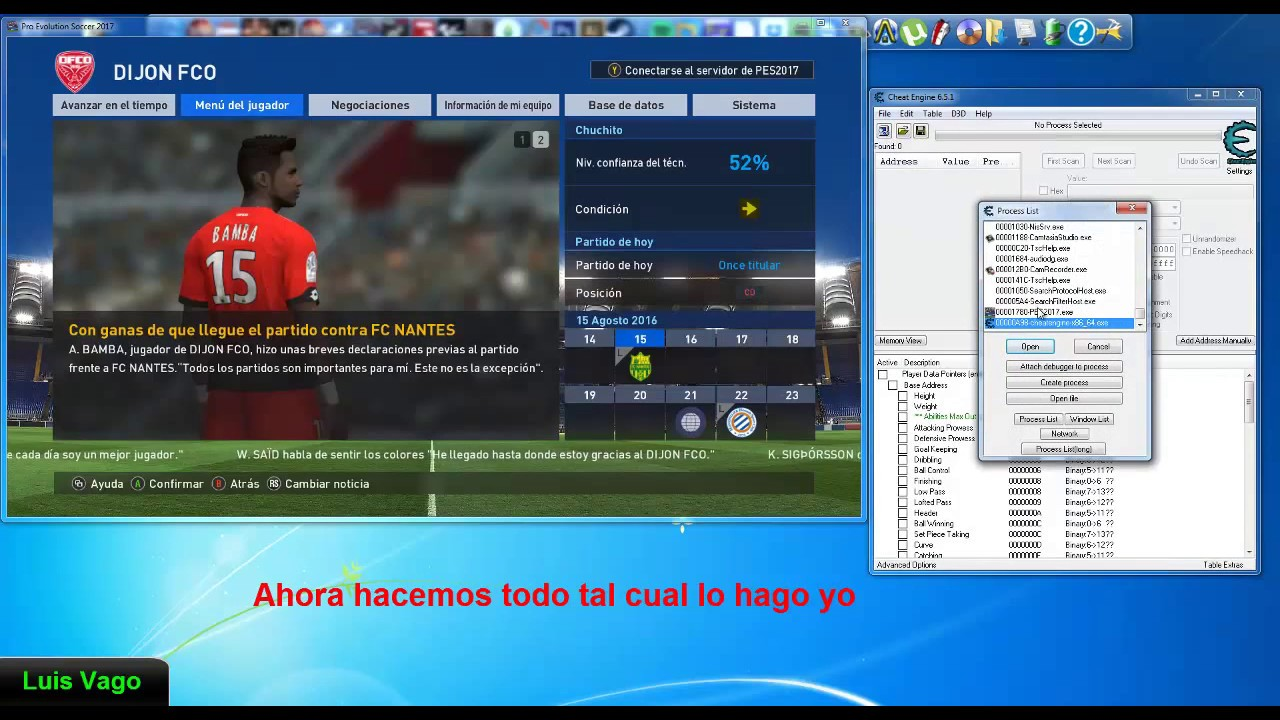 Bal Editor Pes 2017 Pc Youtube