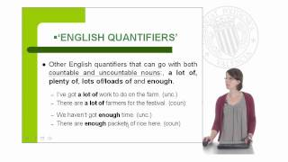 Countable, uncountable nouns and quantifiers |  | UPV