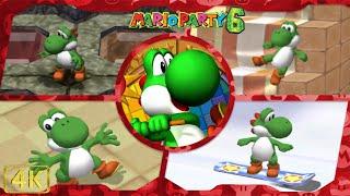 All Minigames (Yoshi gameplay)   Mario Party 6 ⁴ᴷ