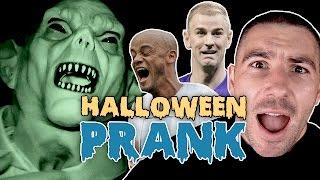 HALLOWEEN PRANK! | Man City players get a surprise before training